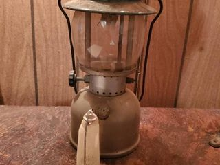 Coleman Green lantern with Pyrex Glass  and Alladin Upright Gaslight Mantle