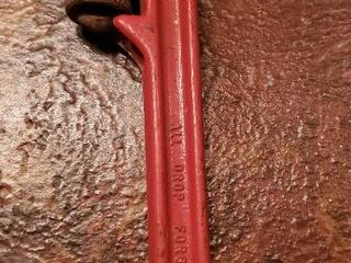 All Drop Forged Red Pipe Wrench  10 Inch