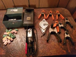 lot Clamps  Small lock Box and Polarity Tester