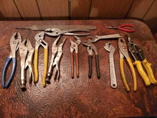 lot of 13 Hand Tools  Pliers and More