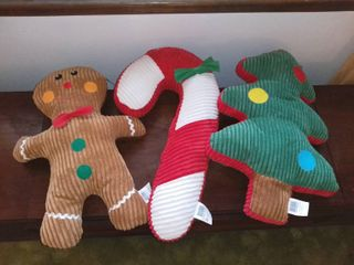 lot of 3 Holiday large Christmas Dog Toys