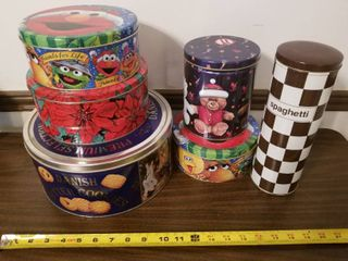 lot of Six Assorted Tins