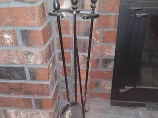 Metal Fireplace Tool Set