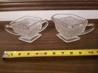 Beautiful Set of Two Small Crystal Dishes