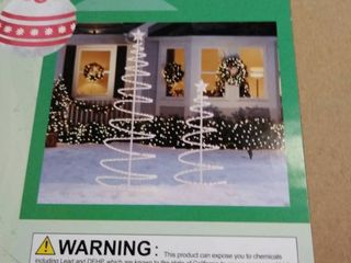 holiday living 2 pc lighted spiral tree set