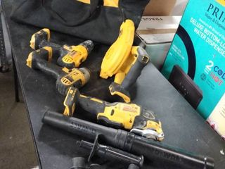 dewalt bag of used tools