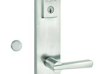 Baldwin 183SPEXSPl SQR 15 SMT CP Prestige Spyglass Double Cylinder Handle Set with lever Featuring Smart Key  Satin Nickel