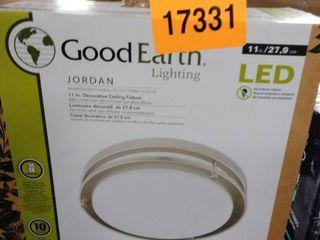 Good Earth lighting legacy 11in  Satin Nickel led Flush Mount light Energy Star