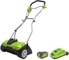 greenworks 14 inch cordless dethatcher 40 volt lithium