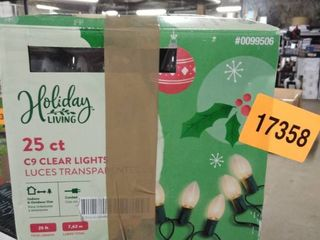 holiday living 25 ct c9 clear lights 3 boxes
