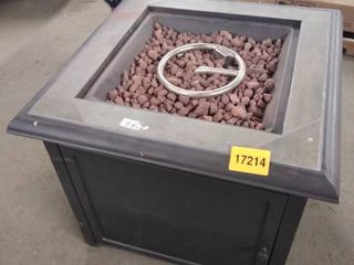 square brown fire pit gas burning