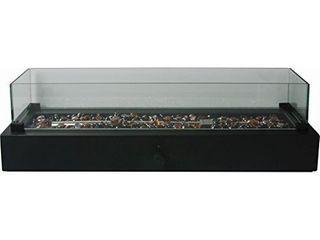 Bond 7 in W 40 000 BTU Black Portable Tabletop Steel liquid Propane Firebowl