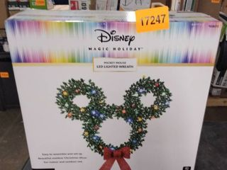 disney magic holiday mickey mouse led lighted wreath