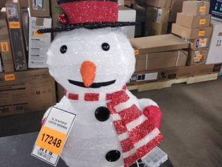 hl 24 in popup lighted snowman