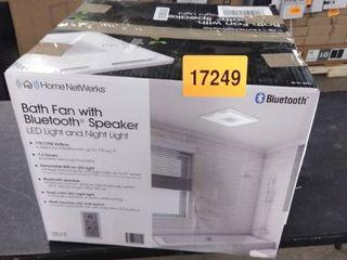 Home Netwerks 1 5 sone 110 cfm White Bathroom Fan Model 7130 13 bt Brand bath fan with bluetooth speaker