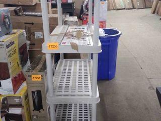 keter 36x18 storage shelf unit 5 shelves