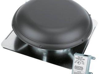 Air Vent 53832 Weatherwood Metal Dome Roof Mounted Power Attic Ventilator