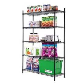 Style Selections 72 3 in H x 47 7 in W x 18 in D 5 Tier Steel Freestanding Shelving Unit