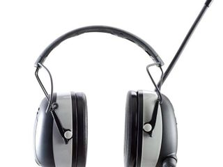 3M WorkTunes Wireless Hearing Protector with Bluetooth Technology and AM FM Digital Radio