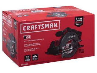 Craftsman 20V MAX 6 1 2 in  Cordless Circular Saw 4000 rpm Keyless 50 deg  Red   Case Of  1