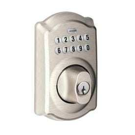 Schlage BE365VCAM619 Camelot Keypad Deadbolt  Satin Nickel