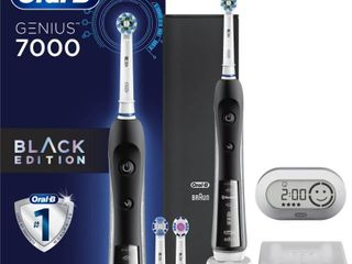 Oral B 7000 SmartSeries Electric Toothbrush 3 Brush Heads Powered by Braun Black