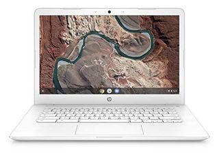 HP Chromebook 14 Inch laptop with 180 Degree Hinge  Full HD Screen  AMD Dual Core A4 9120 Processor  4 GB SDRAM  32 GB eMMC Storage  Chrome OS  14 db0050nr  Snow White