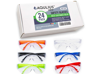 24 Pack of Kids Safety Glasses  24 Protective Goggles in 6 Different Colors  Crystal Clear Eye Protection   Specially Designed to Fit Children  Perfect for Nerf Parties