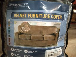 H  Versailtex Velvet Furniture Cover  Gray