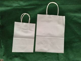 BagDream  Small Medium Bags  White  100  Recycled Material