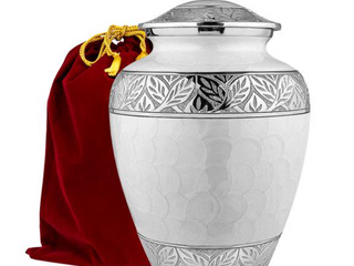 Silver linings White Adult Urn