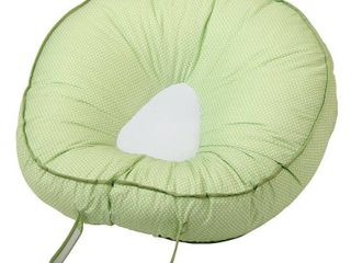 leachCo Podster Sling Style Infant lounger in Green Pin Dot