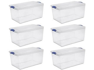 Clear Storage Containers Pack of 6
