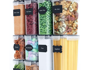 Chef s Path  14 Pack Food Storage Containers  Free Spoon Set  Chalkboard labels And Marker