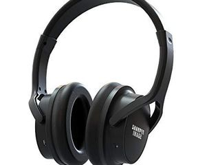 Sharper Image OWN ZONE Wireless Rechargeable TV Headphones  RF Connection  2 4 GHz  Transmits Wirelessly up to 100ft  No Bluetooth Required  AUX  RCA    Optical Cable Included  Black