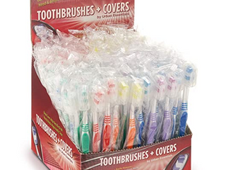 100 Bulk Toothbrushes Individually Wrapped Medium Bristle Full Head Oral care