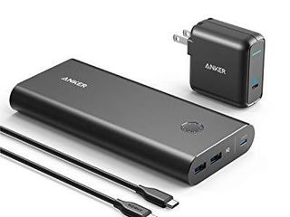 Anker PowerCore  26800mAh PD 45W with 60W PD Charger  Power Delivery Portable Charger Bundle for USB C MacBook Air Pro Dell XPS  iPad Pro 2018  iPhone 12   Mini   11  Pro   XS Max   X   8  and More