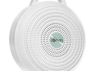 Yogasleep Rohm Portable White Noise Machine for Travel   3 Soothing  Natural Sounds with Volume Control   Compact Sleep Therapy for Adults   Baby   USB Rechargeable   lanyard for Easy Hanging