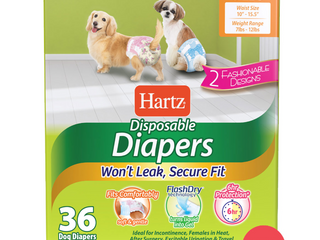 Small Hartz Disposable Dog Diapers With Flashdry Technology