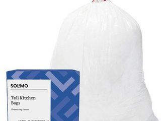 Amazon Brand   Solimo Tall Kitchen Drawstring Trash Bags  13 Gallon  120 Count