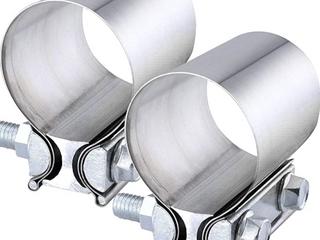Evil Energy  Muffler Bracket  2 25 Inch  Stainless Steel 2Pcs