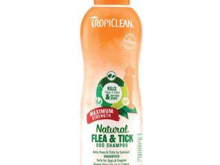 TropiClean Natural Flea   Tick Maximum Strength Dog Shampoo  20 oz