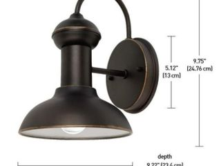 Globe Electric Jameson 1 light Oil Rubbed Bronze Outdoor Wall lantern Sconce  2 Pack