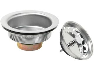 Glacier Bay Standard Post Sink Strainer in Stainless Steel  Silver