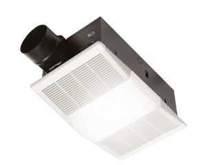 Broan NuTone 80 CFM Ceiling Bathroom Exhaust Fan with light and 1300 Watt Heater  White