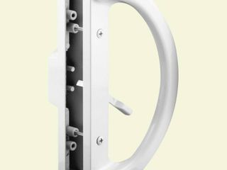 Prime line Products C 1225 Sliding Door Handle  Mortise Style  White