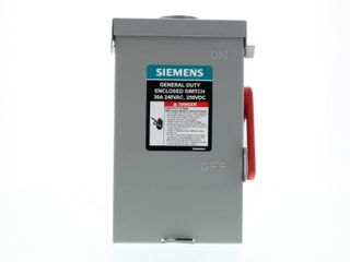 Siemens GF221NU GHN321NU Fusible Safety Switch  240 V  30 A  2 Pole