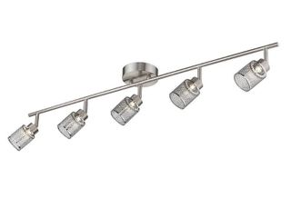 Eglo Temmar 39 in  5 light Integrated lED Brushed Nickel Flushmount Fixed Track