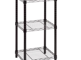 Honey Can Do 3 Tier Black Wire Shelving Tower 14X15X30In