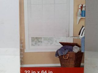 project Source 1in white vinyl mini blinds 34 x 64 in